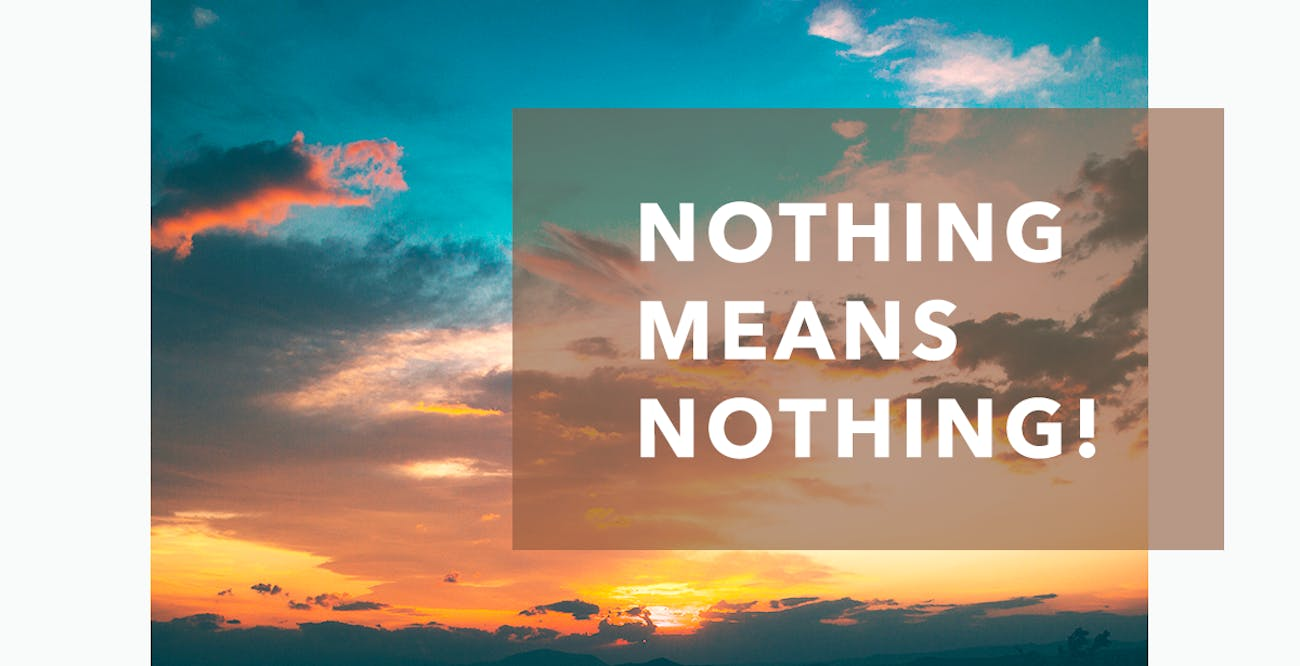 Joseph Prince Daily Devotional 14th December 2020 - Nothing Means Nothing!